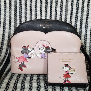 Kate Spade Dome Crossbody Minnie Mouse Wallet